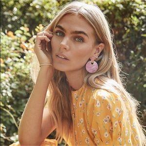 Kendra Scott Didi Gold Statement Earrings NEW